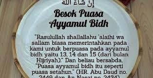 jadwal puasa sunnah ayyamul bidh bulan januari 2018 jangan sai