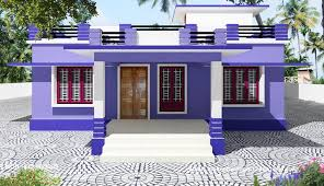 Single story beautiful house design build on a total area of 110 m
