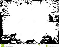 happy halloween clipart banner halloween border black and white landscape u2013 festival collections