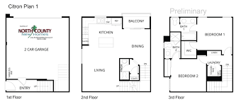 floor plans for new homes citron floor plans new townhomes in escondido county new