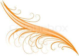 orange swirl ornament on the white stock vector colourbox