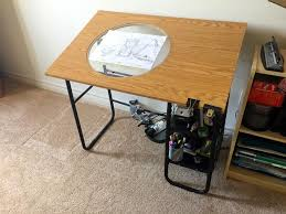 Drafting Table Calgary Animation Desk Drafting Table With Plexiglass Rotating Disc