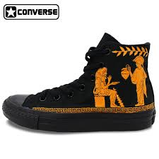 Sepatu Converse Black all black converse chuck shoes floral roses