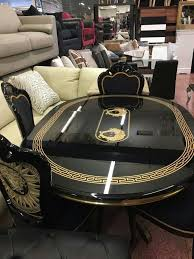 high table with four chairs black high gloss versace dining room table and four chairs