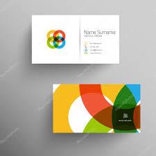 modern business card template with flat user interface u2014 stock