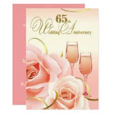 65 wedding anniversary 65th wedding anniversary party invitations announcements zazzle