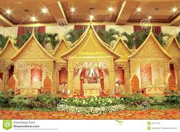 indonesian traditional wedding decoration royalty free stock photo
