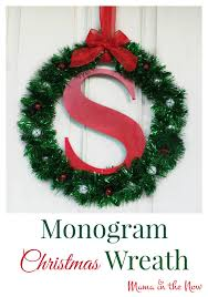 monogram christmas diy monogram christmas wreath craft