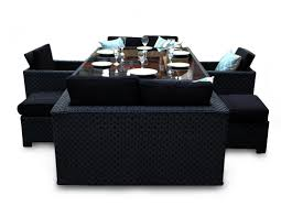 Black Wicker Furniture Deluxe Woburn Sofa Rattan Cube Garden Furniture Seater Black