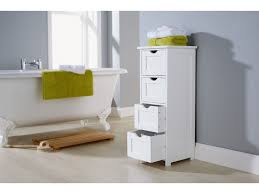 Bathroom Drawer Storage by About Shaker Style Bathroom Cabinet 4 Drawer Storage Unit White