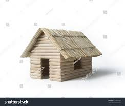Tiny House Models Tiny House Model Made Toothpicks Dry Stock Photo 171059738