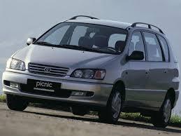 mpv toyota 1996 toyota picnic automobilio techniniai duomenys