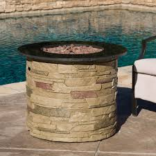 Propane Firepit Rogers Outdoor Liquid Propane Pit With Lava Rocks Gdf