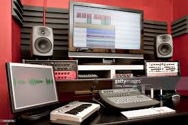 Recording Studio Desks Small Sound Recording Studio Desk Stock Photo Getty Images