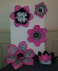 Zebra Print Room Decor by Handmade Zebra Print Paper Flowers Black And Pink Decor
