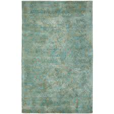 Modern Geometric Rugs by Dynamic Rugs Celeste Aqua Gold 8 Ft X 11 Ft Indoor Area Rug