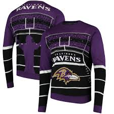 purple sweater purple baltimore ravens stadium light up sweater