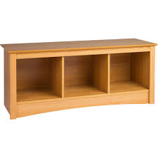 Chiltern Oak Furniture Prepac Sonoma Entryway Cubbie Bench Walmart Com