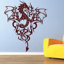 dragon home decor dragon in flames tribal fantasy dragons wall stickers home decor