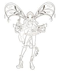 winx 2 coloring pages pinterest coloring fairy and