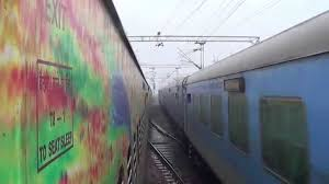 maharaja express train duronto crossing bhopal shatabdi and maharaja express and skips