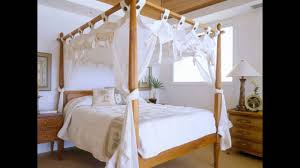 Bed Canopy Frame Bamboo Four Poster Bed Youtube