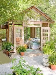 cottage style backyards make a simple guesthouse garden sheds also backyard garden plans