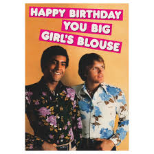 happy birthday you big s blouse greeting card birthday