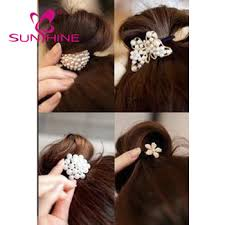 pearl ring metal ornaments wholesale hair tie bracelet