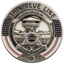 Flag Lapel Pins Bulk Blue Line Correction Officer Family Support Pin