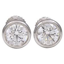diamond stud earrings sale and co peretti diamond stud earrings for sale at 1stdibs