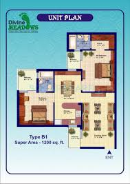 divine meadows in sector 108 noida project overview unit plans 2 bhk 1200 sq ft apartment