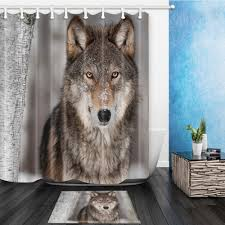 Wolf Curtains Shower Curtains Bath Men