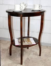 Esszimmertisch Kolonialstil Beistelltisch Teetisch Tisch Oval 75 Holz Massiv Kolonial