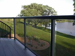 deck railing with glass panels see 100s of deck railing ideas http