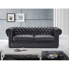 canap 2 3 places canapé 2 3 places canapé en cuir noir sofa chesterfield