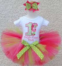 strawberry shortcake ribbon birthday strawberry shortcake doll number tutu set