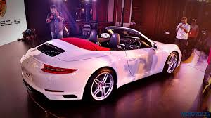 pink porsche convertible new porsche 911 carrera and carrera s launched in india starts at
