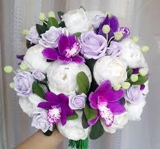 orchid bouquet peony bouquet cymbidium orchid bouquet purple bouquet ivory