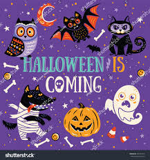 childrens halloween cartoons fun halloween poster greeting card cartoon stock vector 490427416