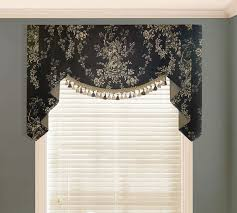 Black Scarf Valance Black Window Valance With Gold Pattern Ideas And White Blind Frame