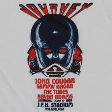journey and sammy hagar jfk stadium concert shirt 1983 wyco vintage