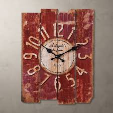 antique clock wall rustic vintage style rectangle clocks large art