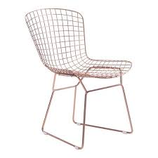 Gold Dining Chairs Bertoia Style Gold Dining Chair Emfurn