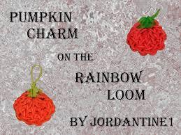 new pumpkin charm fall thanksgiving rainbow loom