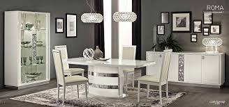 White Dining Room Sets Roma Dining Room Set In White High Gloss Finish By Camelgroup