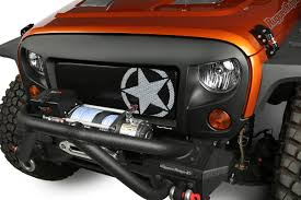 07 jeep wrangler rugged ridge 12034 21 spartan grille inserts 07 16
