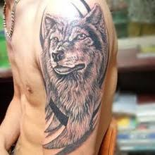 lovely s wolf on arm tattoomagz