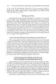 4 using a developmental framework to guide prevention and