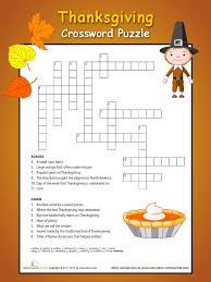 native americans celebrate thanksgiving thanksgiving crossword puzzle 4